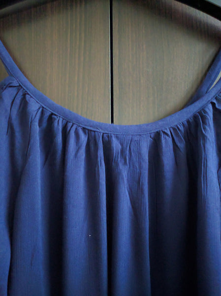 Cold - Shoulder Top - Plain Navy Blue. - #FTFY - For The Fun Years