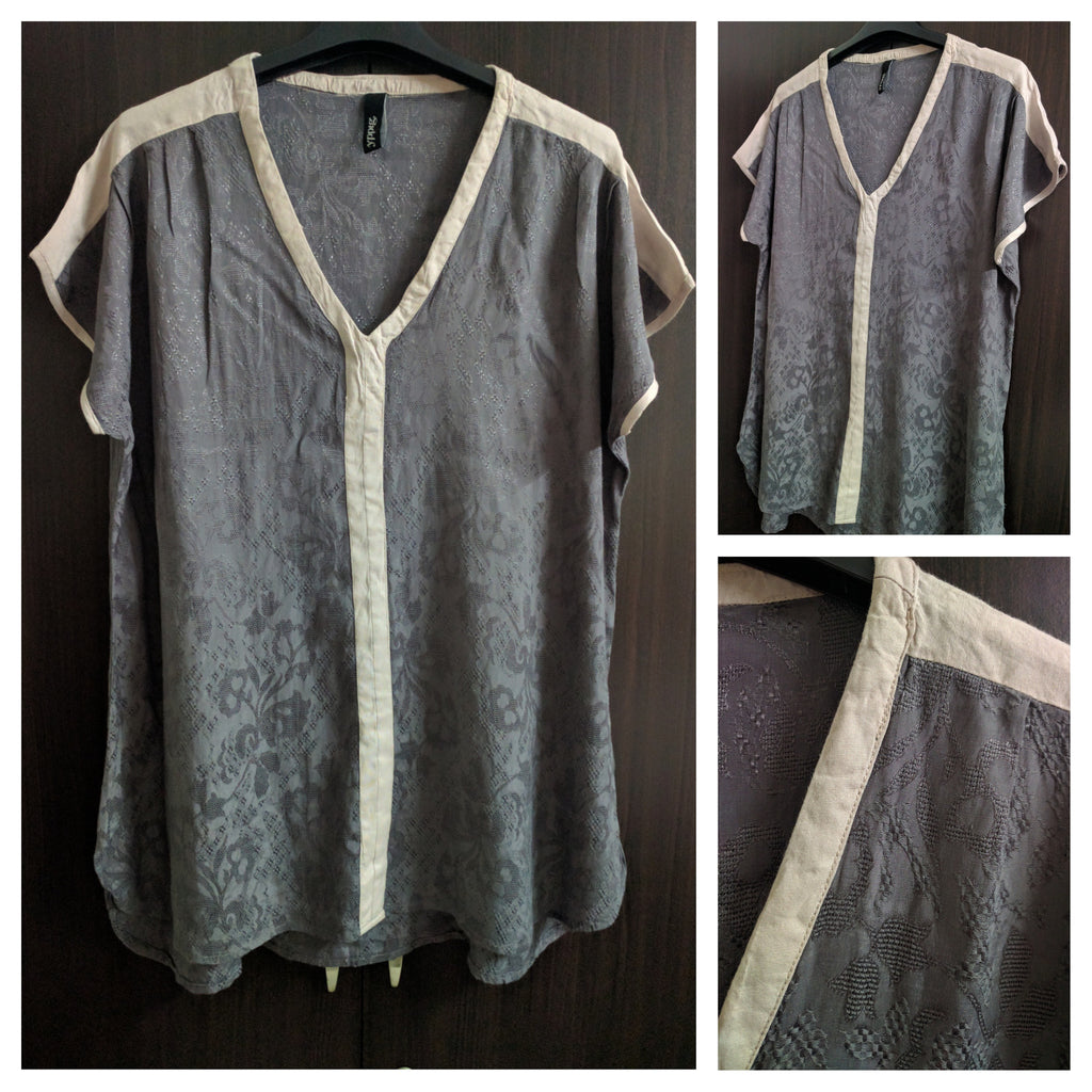 Shimmer Grey & Light Pink Anti-Fit Top