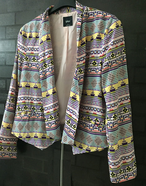Stylish Multicolor Retro Jacket with front jackets