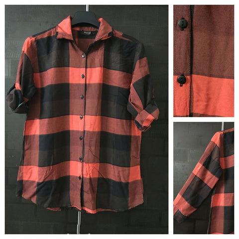 Big Checks - Casual Shirt - Red and Black