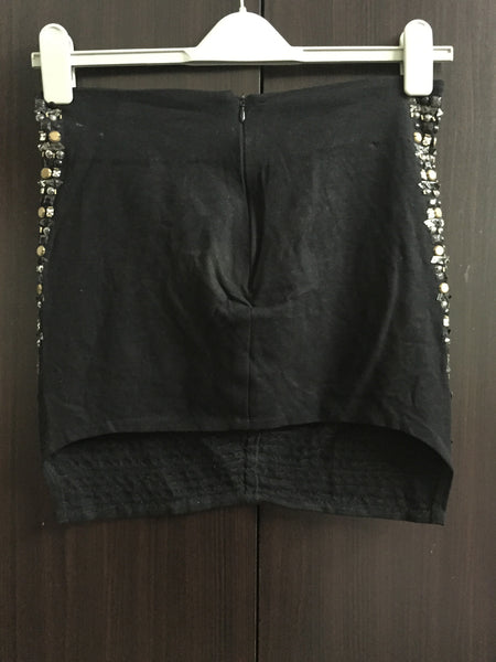 Black Studded Party-Disc Skirt - #FTFY - For The Fun Years