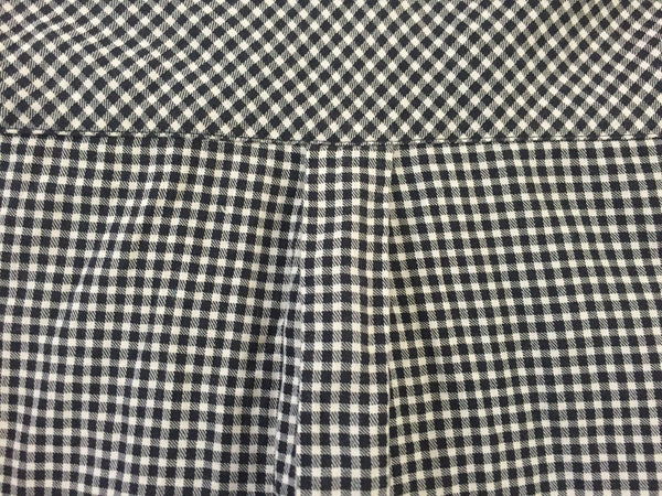 Checks - Tiny Black and White with buttons in pairs