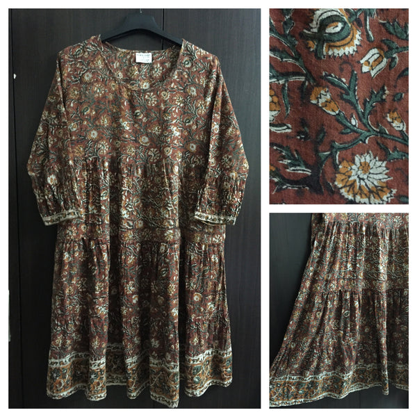 The Long Brown Indi Tunic Top