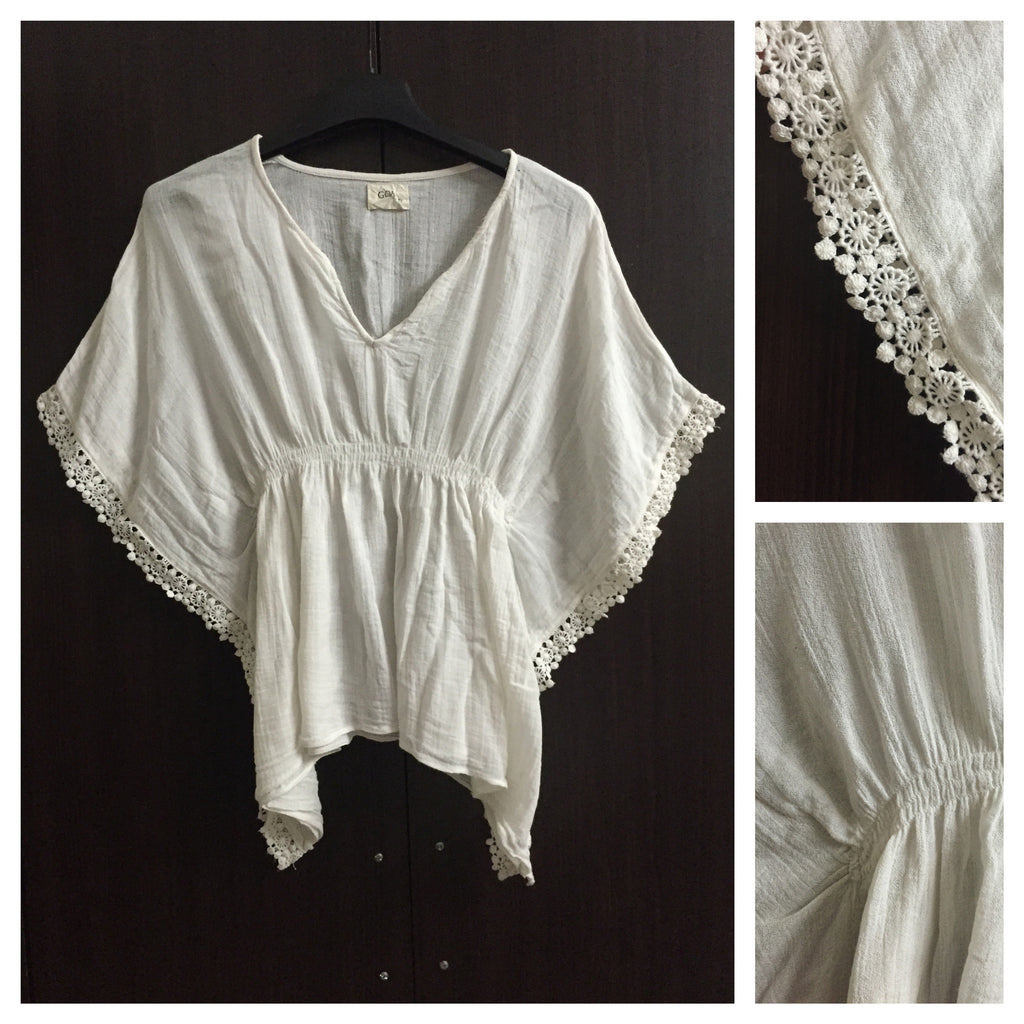 Stylish White Poncho Top
