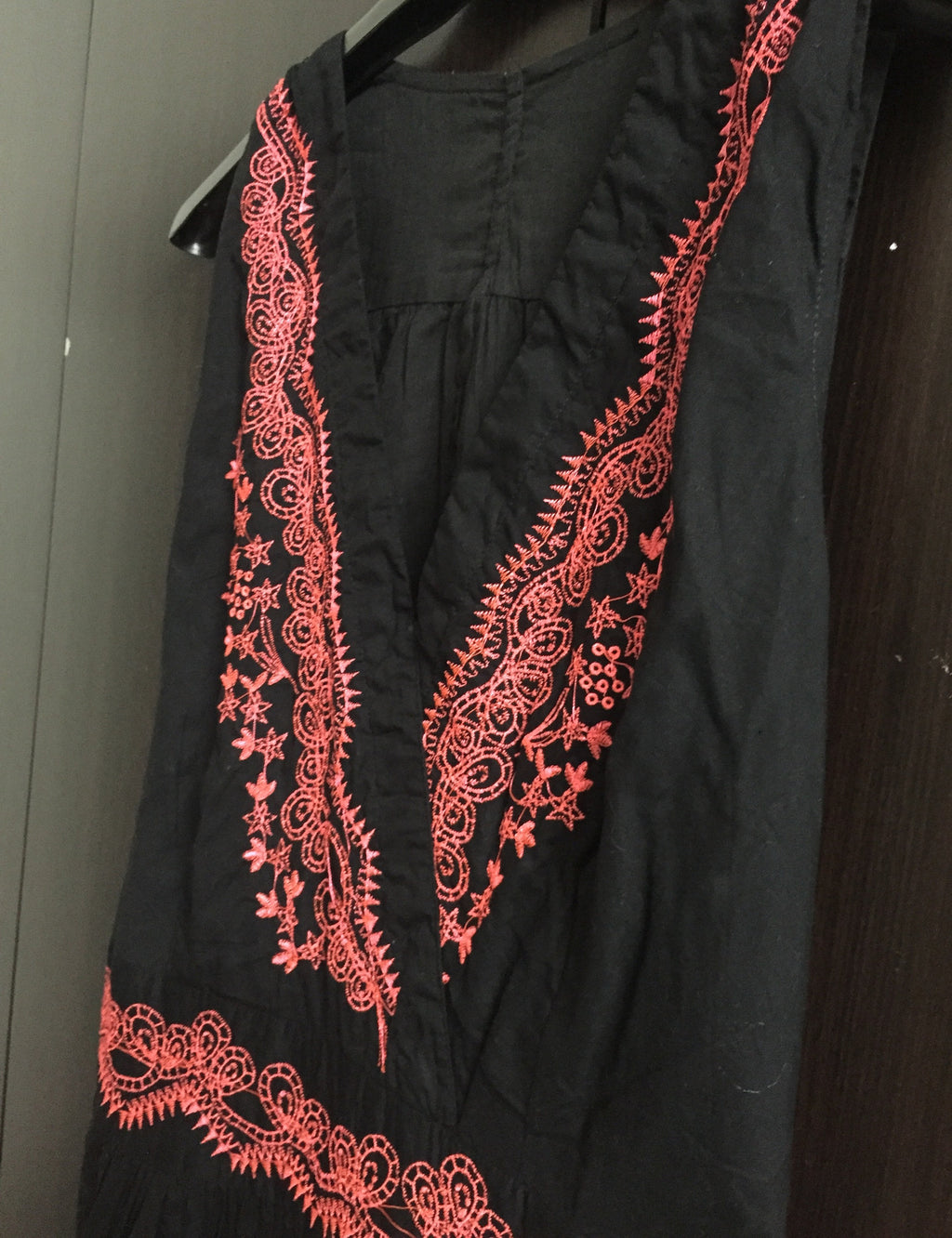 Black Tunic with Pink Thread work - #FTFY - For The Fun Years