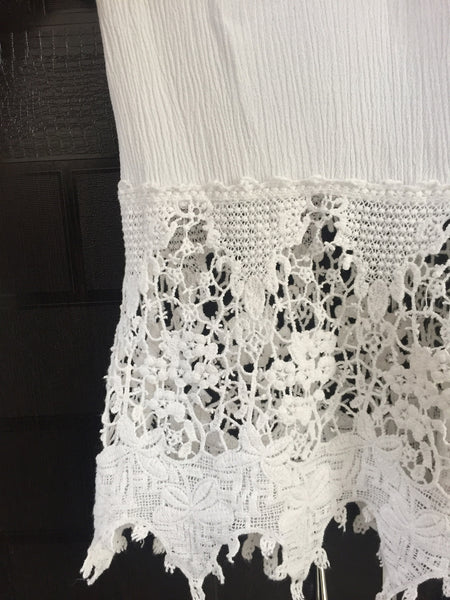 Pretty Lace on Bottom, White Top