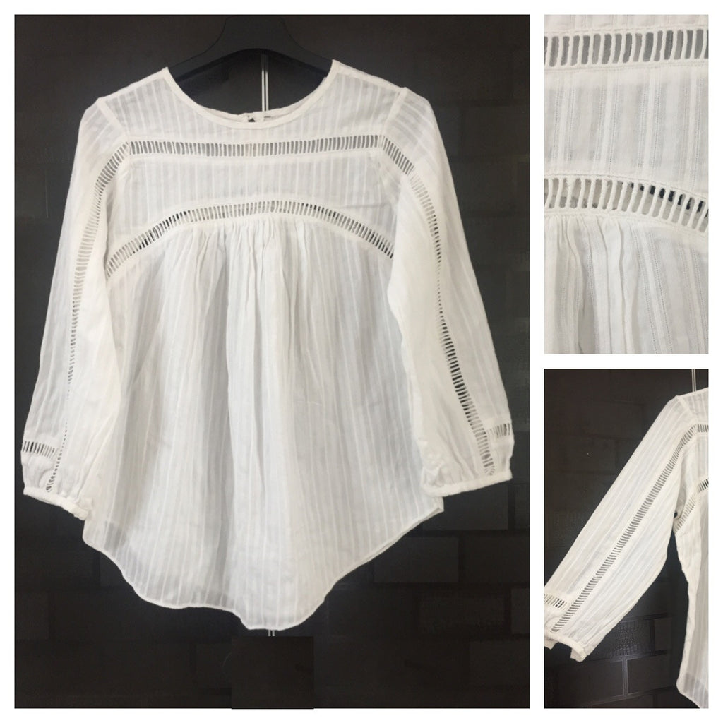 Cut-work Stylish Casual Top