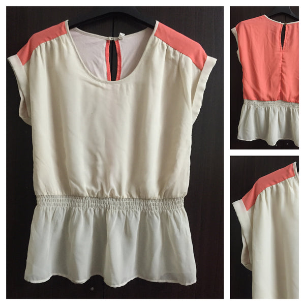 Pink and Cream - 2 Colors top