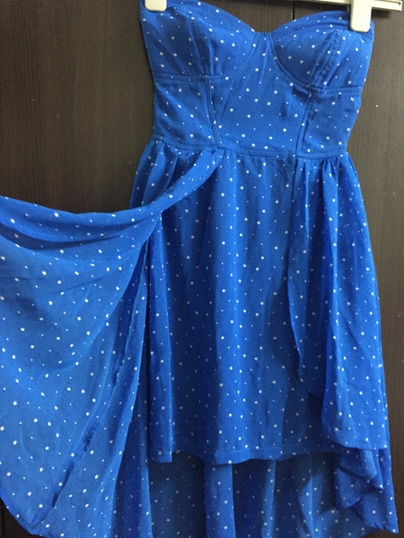 White Stars on Stylish Blue Tube Dress