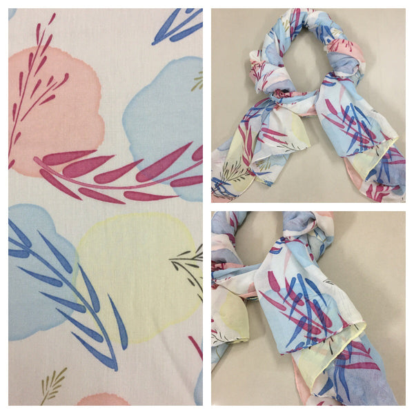 Rectangular - Pretty Pastel Colors Printed Scarf