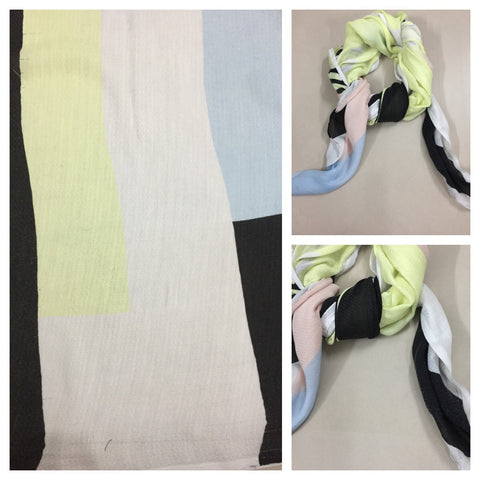 Rectangular - Big Pastel Colors Geometric Prints Scarf