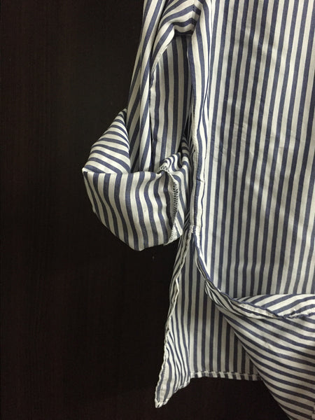 Blue and White Stripes shirt - High Low - #FTFY - For The Fun Years