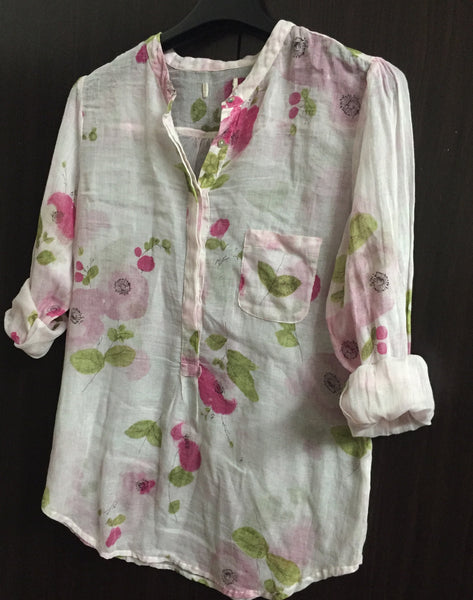 Soft and Light Pink floral Shirt
