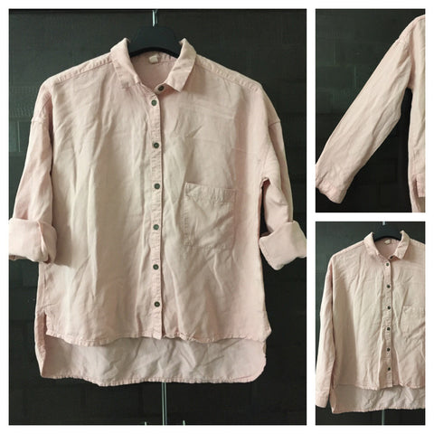 Denim Feel - Comfy Fit Pink Casual Shirt