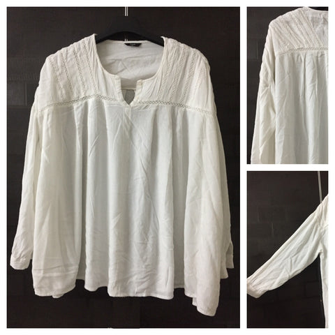 Loose Comfy White Casual Top