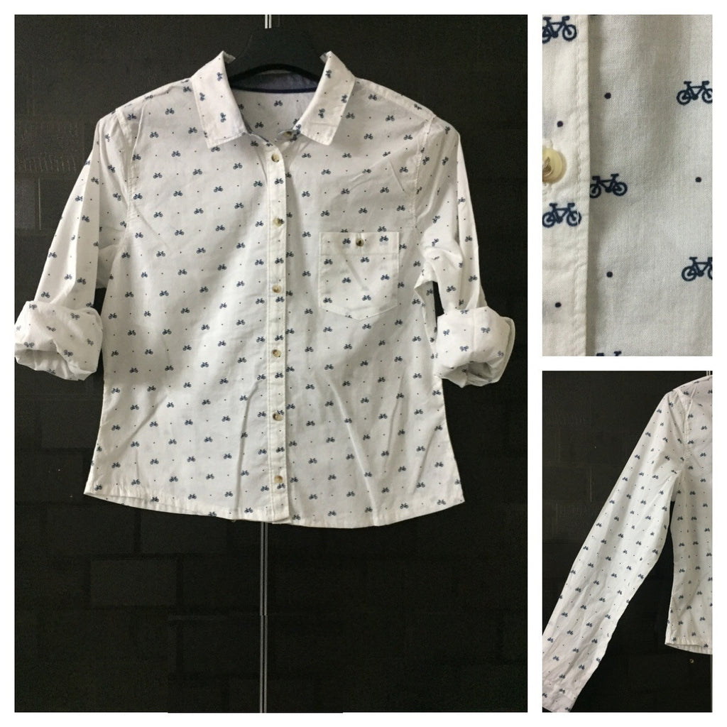 The Bicycle Crop - Short Shirt with Long Sleeves