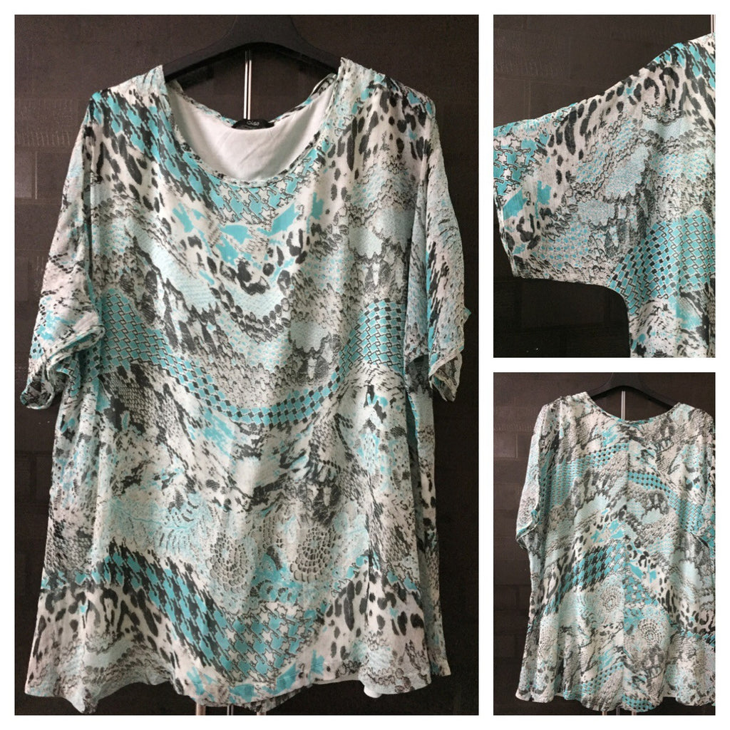 Comfy Fit - Casual Green Printed top with soft light green lining