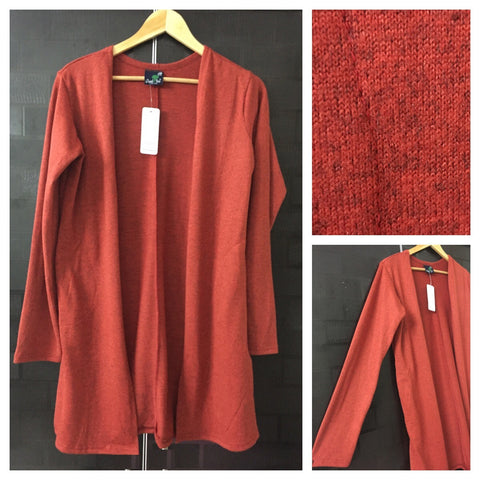 Little Warm - Front open Orange Shrug with side pockets
