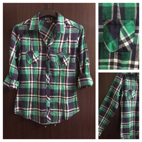 Checks - Green and Blue Casual Shirt