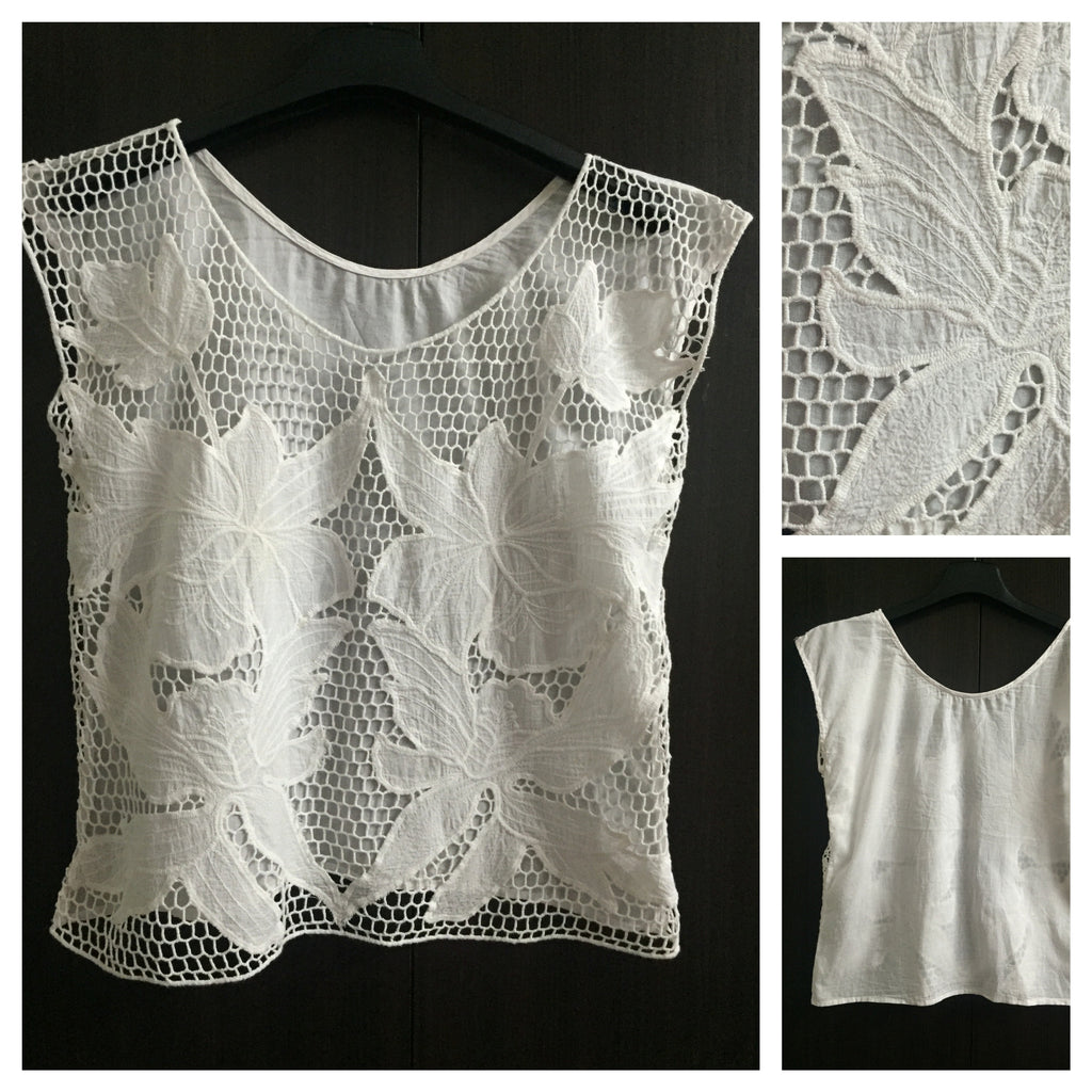 Elegant Front Net Cotton Top