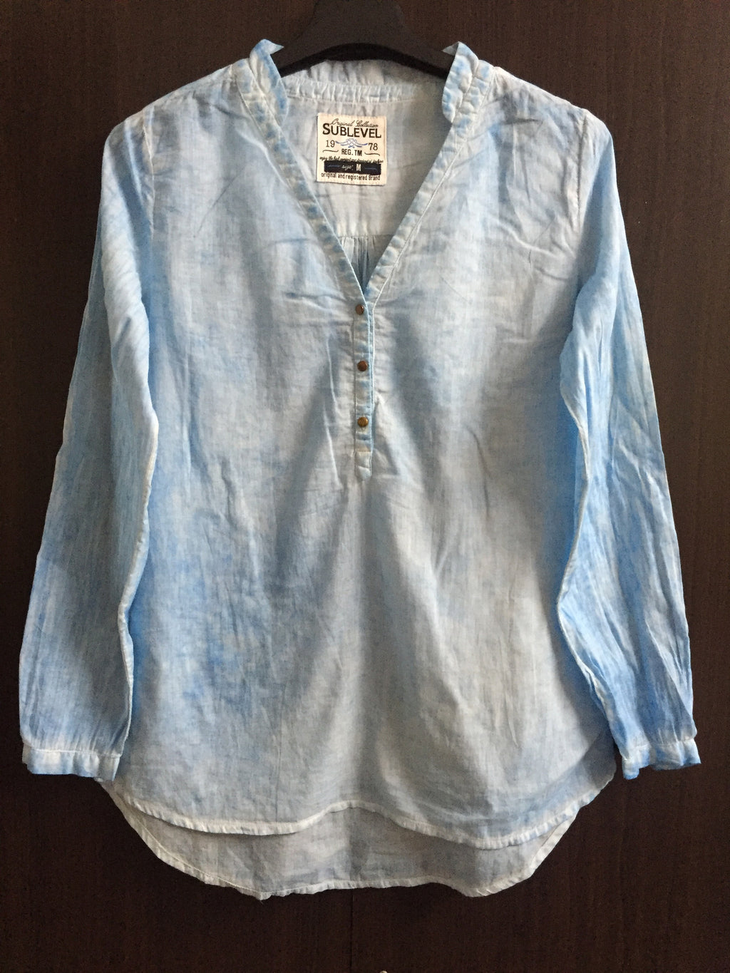 Washed Out Light Blue Top