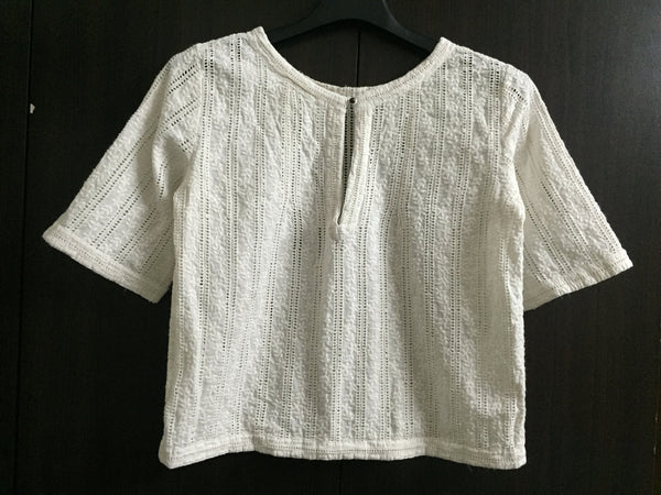 Beautiful White Cut-work and embroidery Top - #FTFY - For The Fun Years