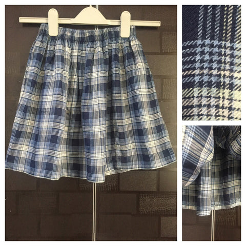 Checks - Light - Dark Blue Checks short Skirt