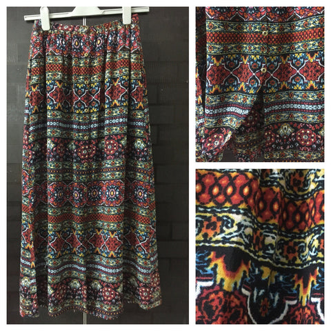 Multicolor stylish Floral Skirt with full buttoned front