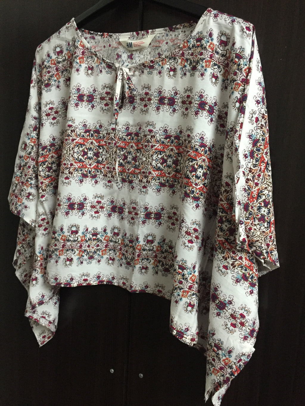 Poncho Style Horizontal Flowers Panel Top