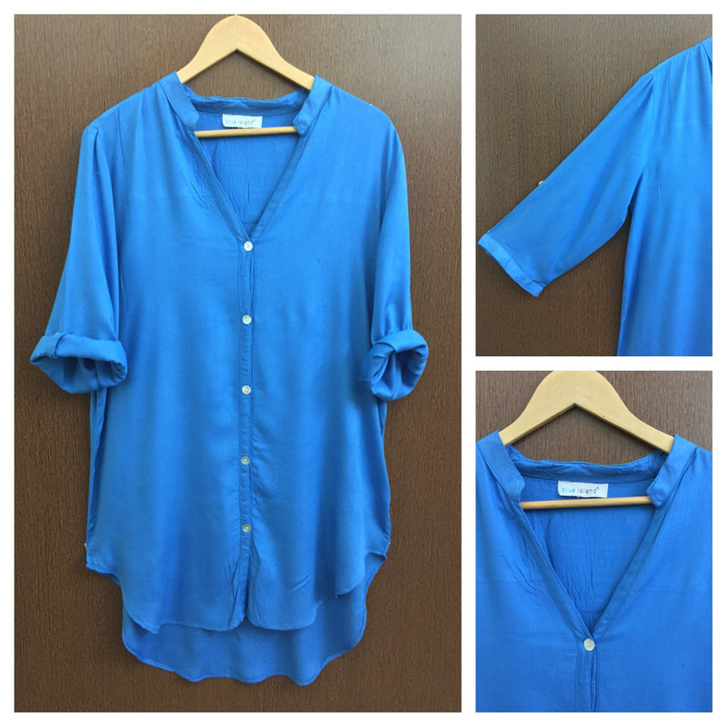 Anti Fit Blue Long Shirt