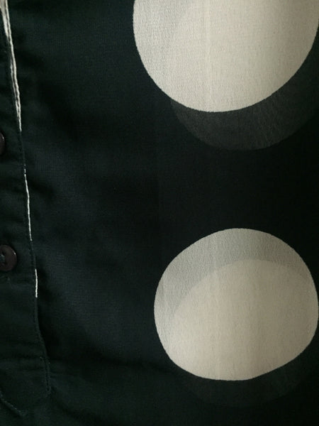 Big Cream Black Polka Top with drooping shoulders - #FTFY - For The Fun Years