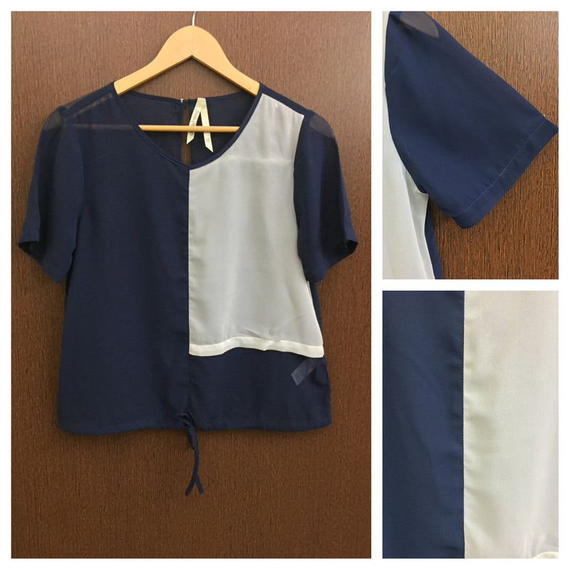 2 Color - Blue Top