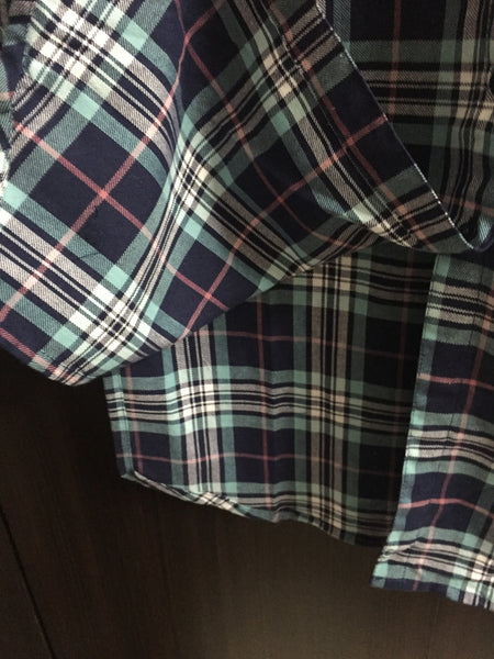 Little Warm - Checks - Navy Blue, Blue and Pink Shirtdress