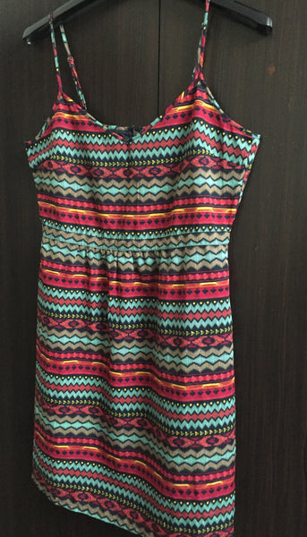Multicolor Printed Dress - Smart and Elegant