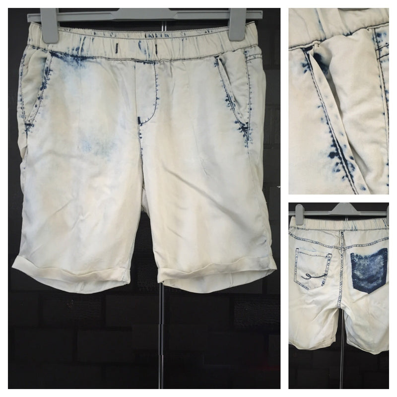 Acid washed Long grey - blue Shorts