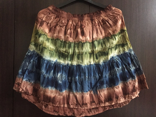 Multicolor Vibrant Tie-Dye Skirt