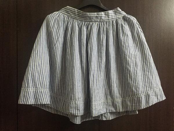 Pretty Grey-ish Blue and White Striped Skirt