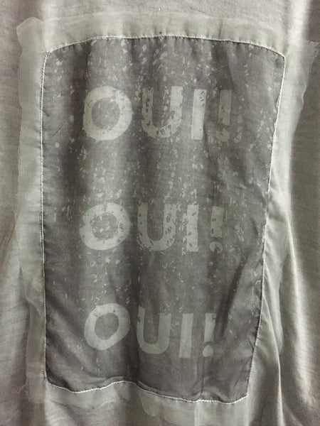 Soft and Light - OUI Tee - Grey