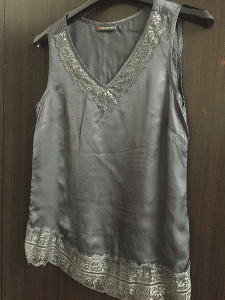 Shimmer - Grey Sleeveless Top
