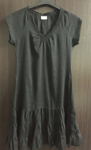 Simple Black Casual Dress