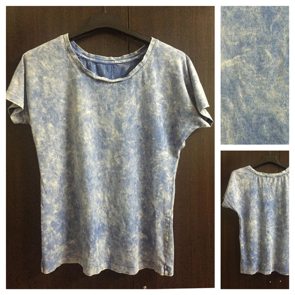 Washed Out Blue Casual Tee