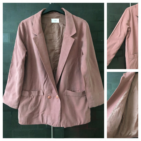 Light Pink - Soft feel Long Jacket