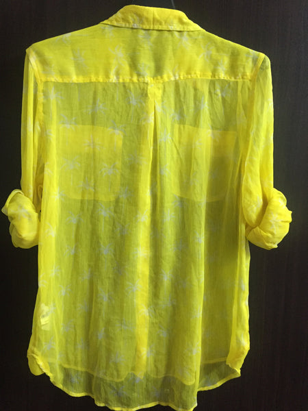 Sunny Yellow Shirt with White Prints