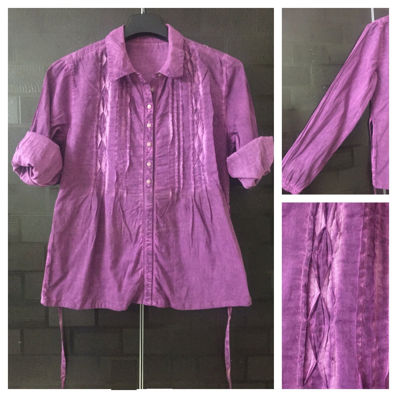 Acid Washed - Pretty Pink Shirt with back Tie