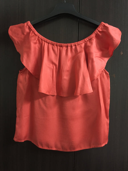 Little Shimmer - Rust colored On - Off shoulder Top