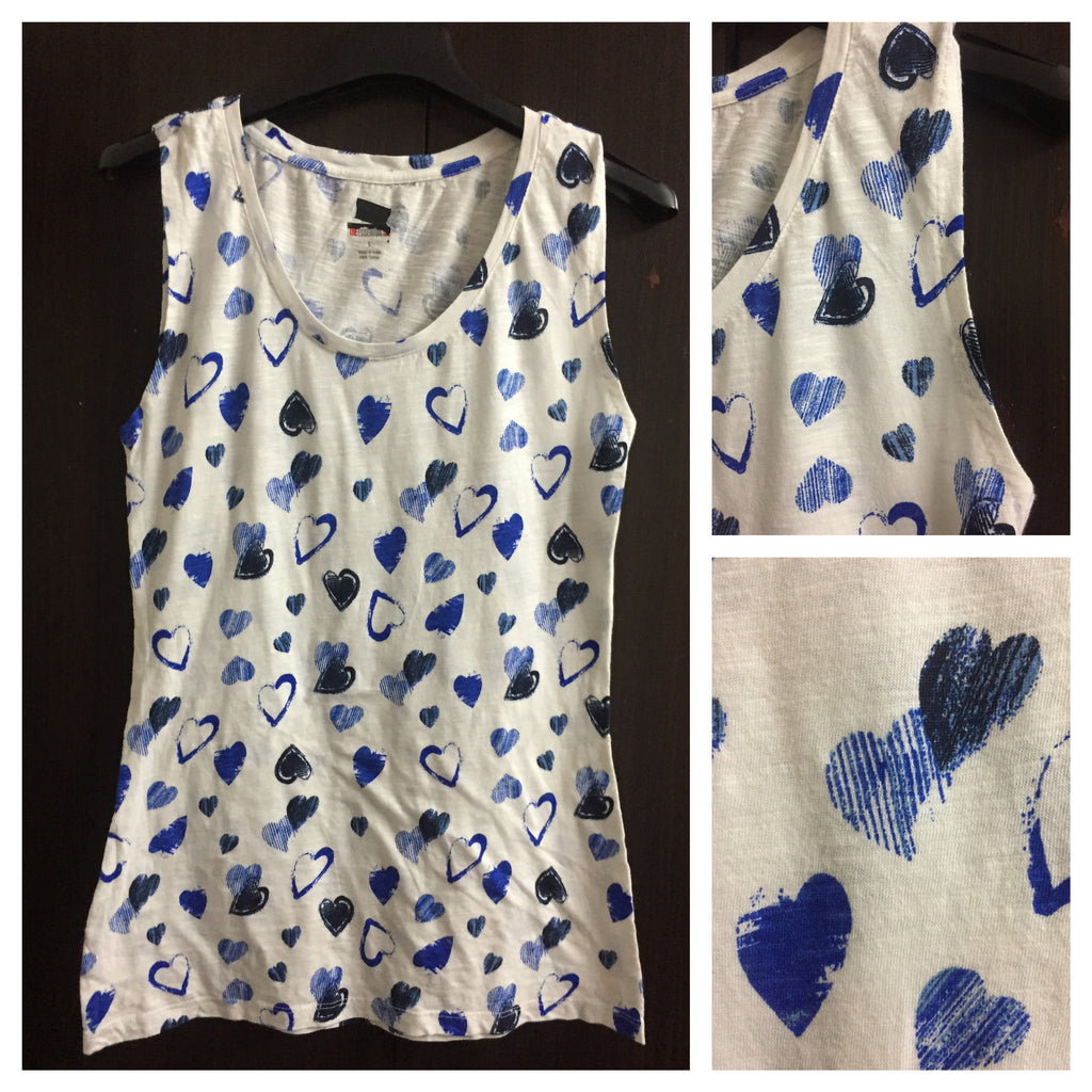 Many Hearts, White Sleeveless Top