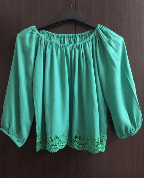 Beautiful Off - Shoulder Top - Green. - #FTFY - For The Fun Years