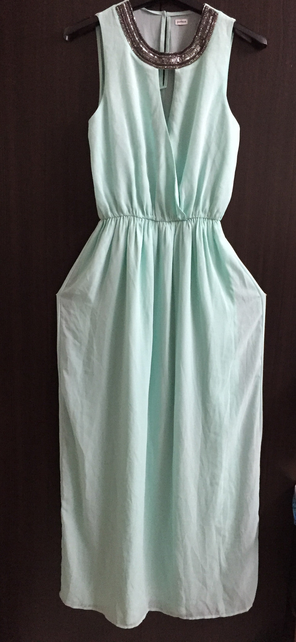 Light Neon Green Maxi Dress