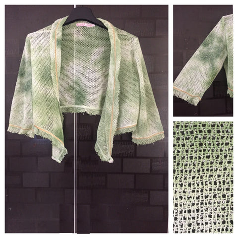 Netted Green Short Shrug