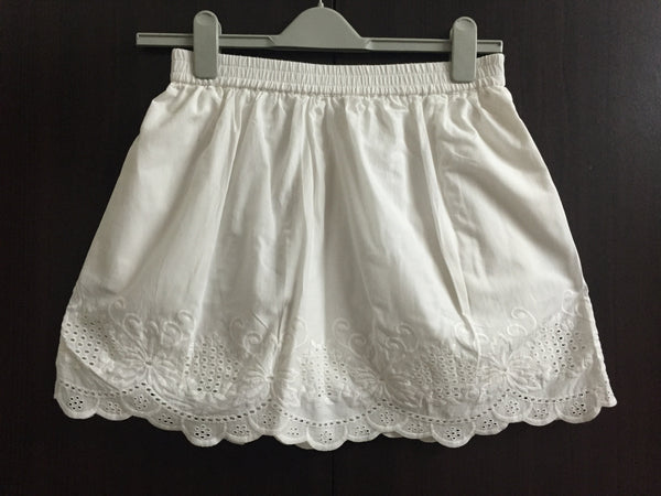Pretty White Cotton Skirt